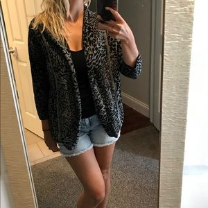 Christopher & Banks leopard open front cardigan
